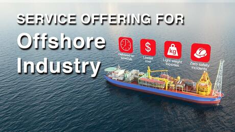 Service offering for offshore industry