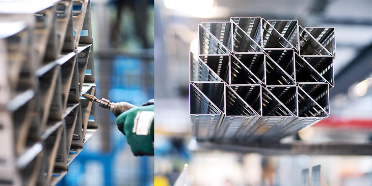 Mekano Triangular Channel, factory
