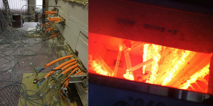 Fire testing to DIN 4102-12