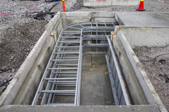 Cable ladders in culverts.