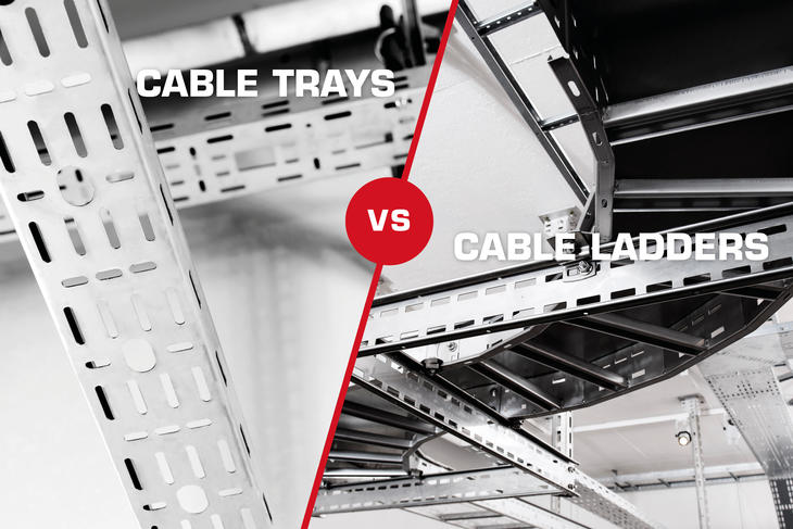 Should you choose cable ladders or cable trays?