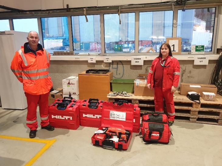Kværner med nytt Hilti-utstyr